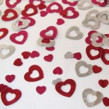 metalik konfeti srce - 66811